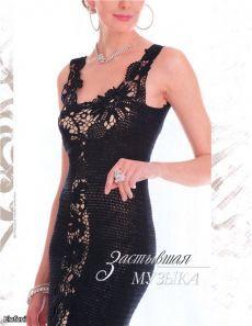 Платья в черном цвете