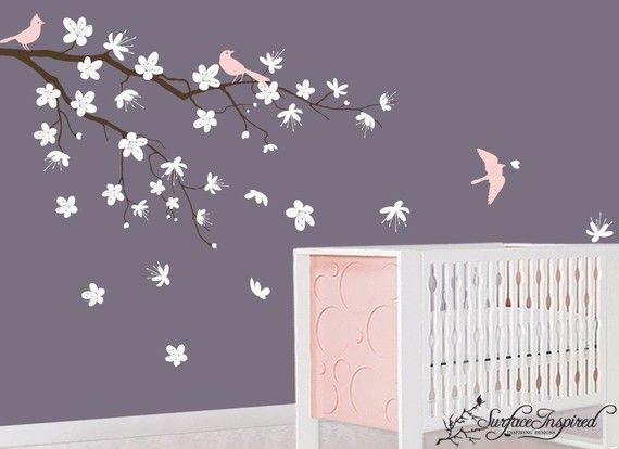 Cherry Blossom Wall Decal - Nevermind the cot, I would have this in any room
