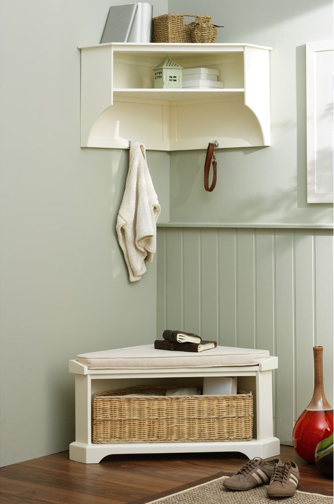 corner hall storage bench google search