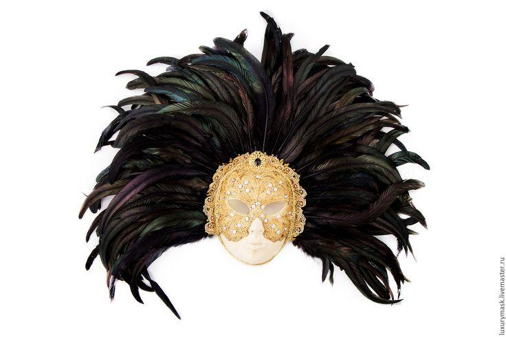 """Купить Венецианская маска """" С широко закрытыми глазами"""" - золотой, венецианская маска, маскарад"""