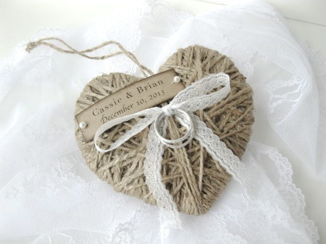 Ring Bearer Pillow  reuse as Christmas ornament by AlisaMayde, $18.00