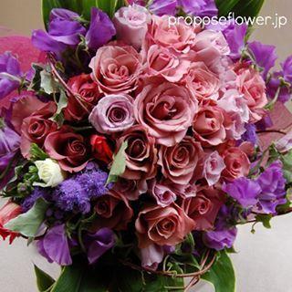 幸せな花束達の記録♪ http://proposeflower.jp/  #薔薇#バラ #紫の薔薇#バラの花束#薔薇花束 #花屋 #フラワーショップ #flowershop #flowerdesign #プロポーズフラワー #propose