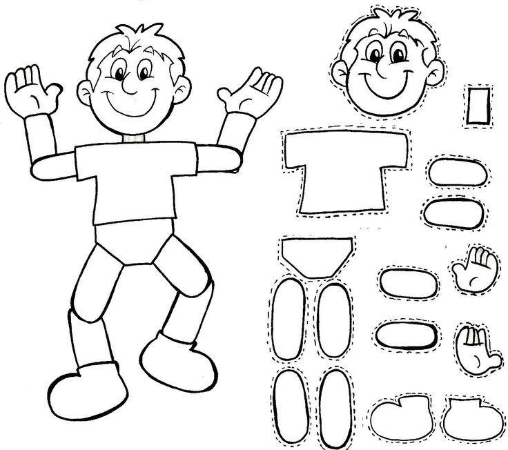 CUERPO HUMANO PARA ARMAR    dibujo para colorear del cuerpo humano   http://rocio-tecuentouncuento.blogspot.com/2014/02/cuerpo-humano-para-armar.html: