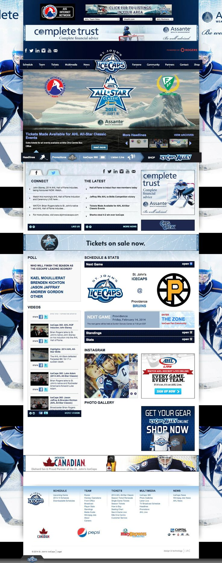 St. John's IceCaps website  #Hockey #StJohns #IceCaps #AHL
