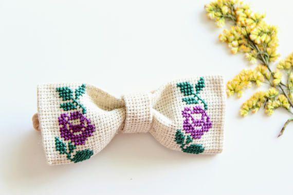 Purple Baby Bow Headband Bow Headband With Rose Fall