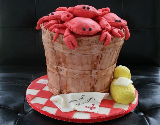Cakes by Jyl: Birthday Bushel of Crabs Cake