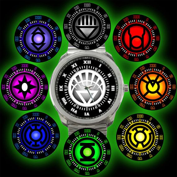 Power Rings of DC Universe GREEN LANTERN Complete Corps Comics Guardian Watch on Etsy, $15.50
