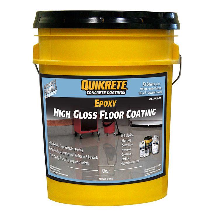 Quikrete Garage Floor 2-part Epoxy Clear High-Gloss Kit