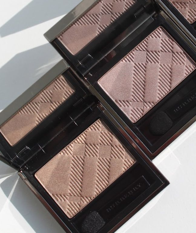 "Burberry Eyeshadow in ""Pale Barley"" and ""Rosewood"""