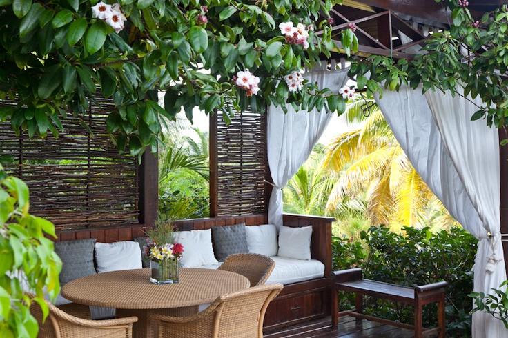 Unwind at Tetto Rosso #villa on #Mustique