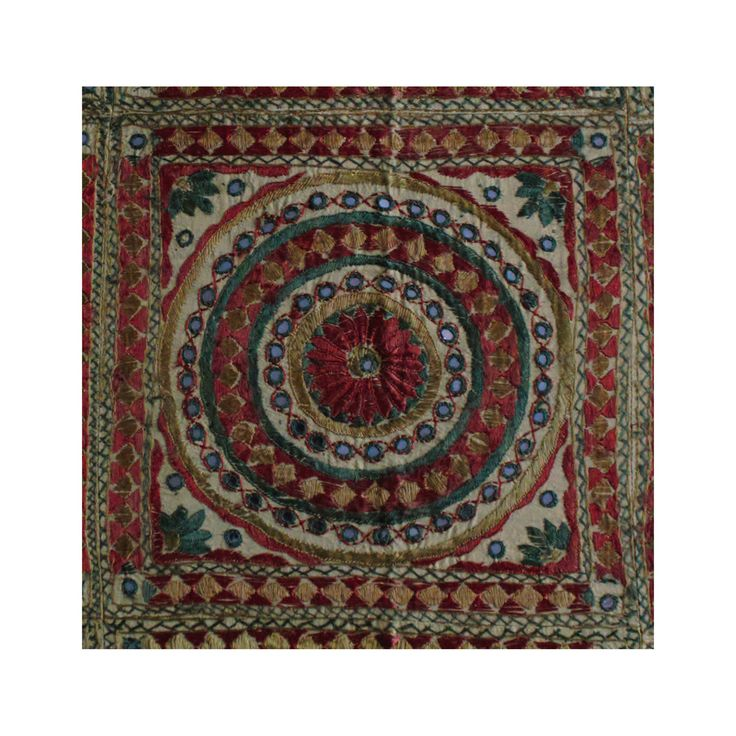 Multicoloured Rawawork Cotton Flat Bed Sheet - Double / King