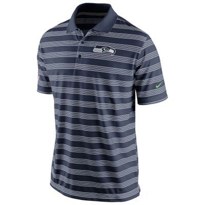 Mens Nike College Navy Seattle Seahawks Preseason Performance Polo