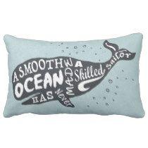 Smooth Oceans Lumbar Pillow - so many cute choices! #ad