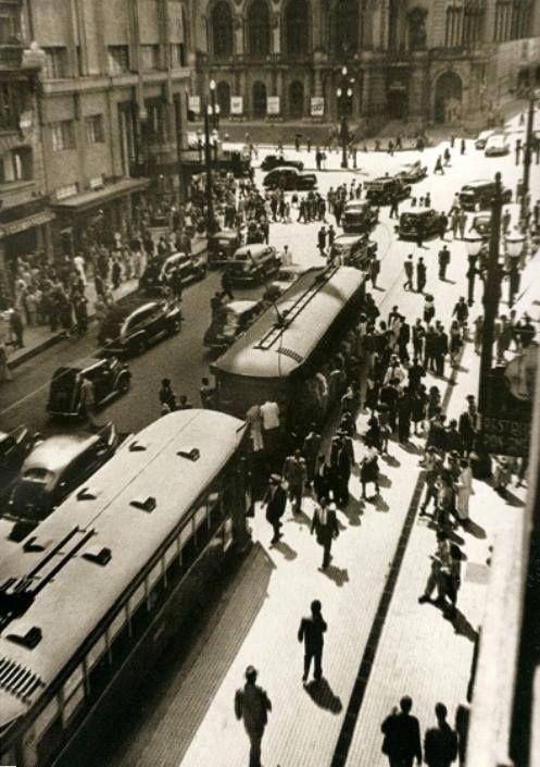 Década de 50 - Rua Xavier de Toledo.