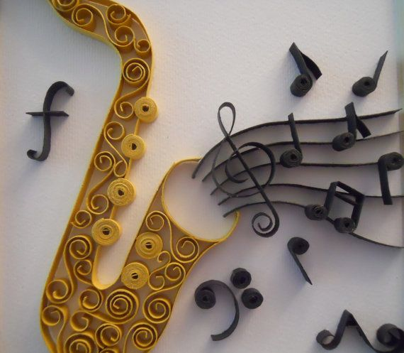 The Saxophone by Itisonlypaper on Etsy