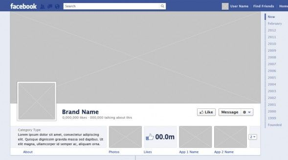 Brand Facebook Timeline Template (PSD)