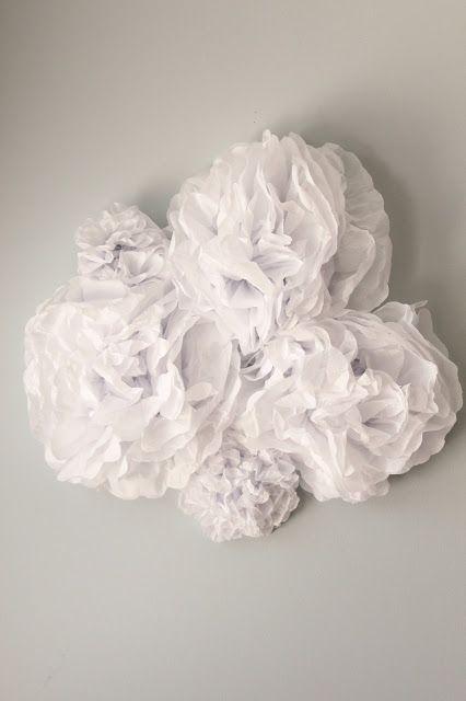 Tissue paper clouds