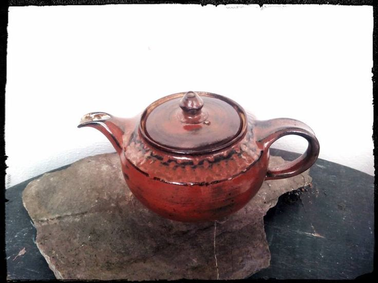 handmade stoneware... teapot, amaco glazes... reserved for Jan