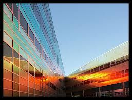 gebouw: mooie zon weering
