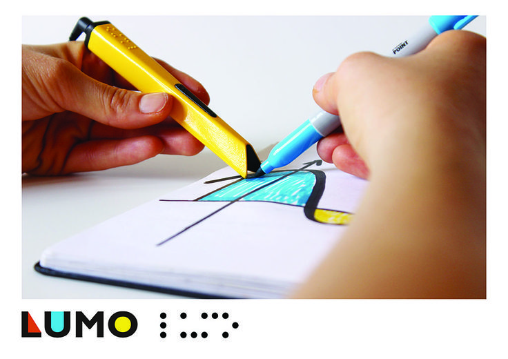 LUMO is a small, portable and affordable real time graphic reader which enables blind and visually impaired people to read shapes, graphs, diagrams and colour directly from paper, text books and sketch books. For more details, see website at www.mamomiinitiative.wordpress.com