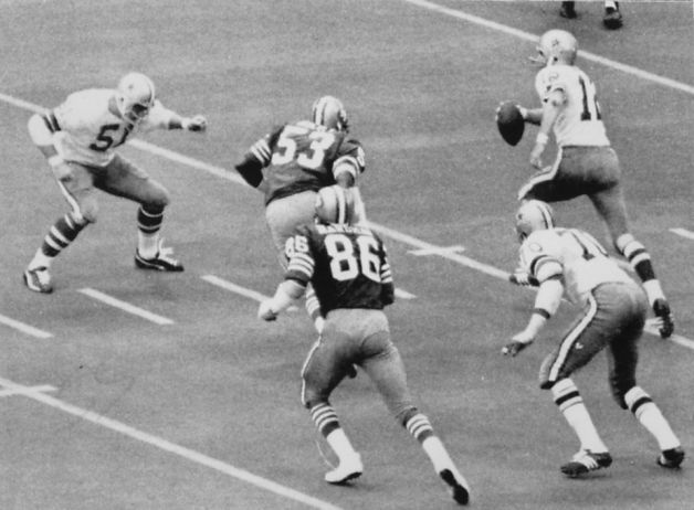 1978 NFC CHAMPION DALLAS COWBOYS | Roger Staubach in the NFC championship game against the Dallas Cowboys ...