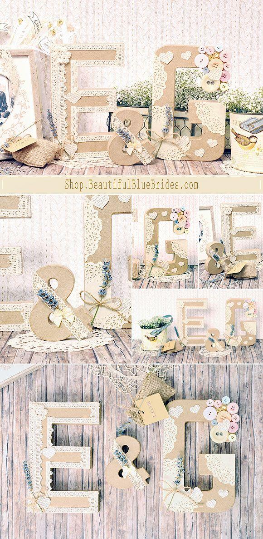 Iniciales para decorar en bodas: Ya tenemos en nuestra boutique de decoración letras grandes de cartón para decorar vuestra boda!