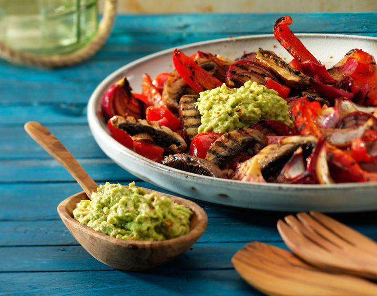 Gegrilde veggies. In Balsamico gemarineerde gegrilde groenten (maken zonder de dip)
