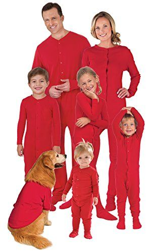A Size for Every Family Member – PajamaGram's exclusive matching family pajamas come in sizes for the whole family, including styles made for adults, boys, girls, toddlers and infants Classic Dropseat Design – Traditional one-piece footie pajamas featuring old-school details, such as full-snap fronts and dropseat bottoms in super-festive berry red Sweet Finishing Touches – These onesie holiday pajamas feature footies with star-shaped treads; Infant and toddler onesies have a full-snap ins...