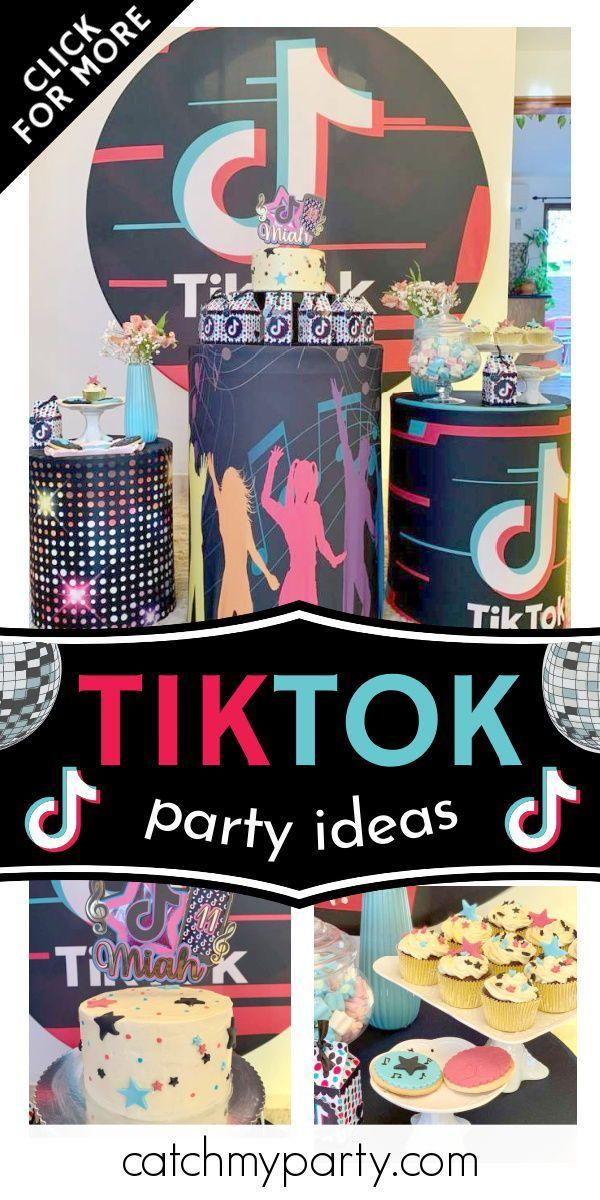 Tiktok Birthday Miah S Tik Tok Birthday Party Catch My Party In 2021 Girls Birthday Party Themes Birthday Party Activities Catch My Party