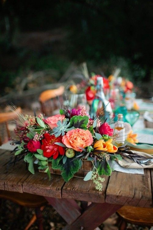 34 Bold And Eye-Catching Boho Chic Wedding Centerpieces | Weddingomania