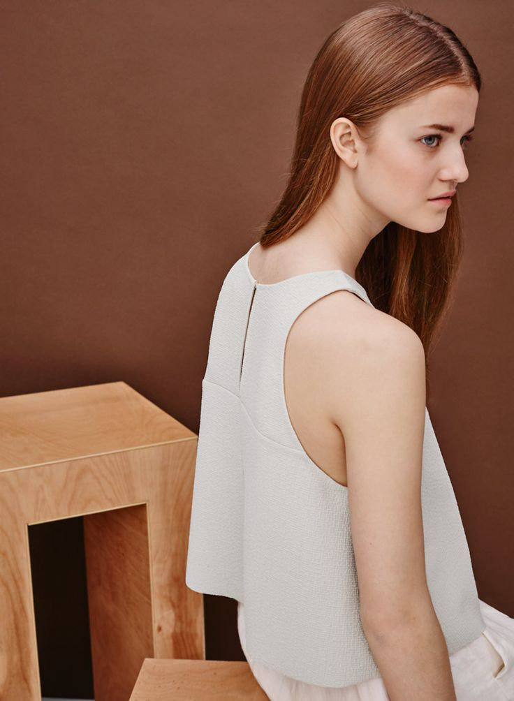 LE FOU BY WILFRED OCTAVE BLOUSE - A minimalist silhouette with contemporary texture