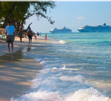 Grand Caymen Islands.  I Travled here by Royal Carribbean Cruise Ship. Wonderful place to relax the Day away