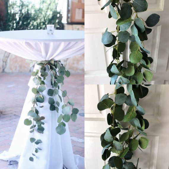 Silver Dollar Eucalyptus Garland Wedding Garland Greenery Garland Seeded Eucalyptus Garland Garland Eucalyptus Wedding