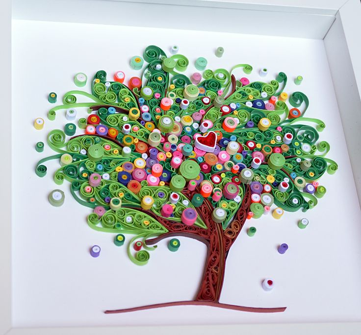 Albero fiorito , 18x18 cm