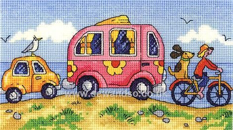 Buy Are We There Yet Cross Stitch Kit Online at www.sewandso.co.uk