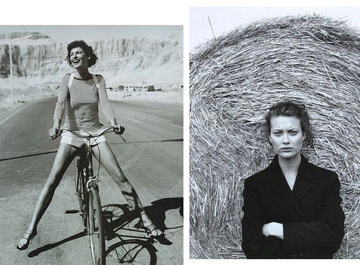 1997 Линда Евангелиста;  и Шалом Харлоу, фото Картера Смита для британского Vogue, октябрь 1997 года