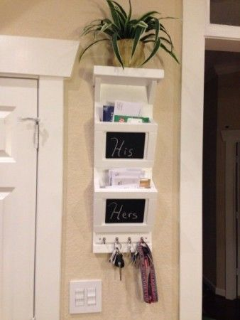 Wooden Mail Sorter With Key Rings | Do It Yourself Home Projects from Ana White