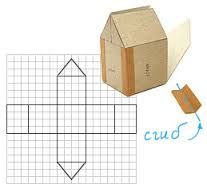 Картинки по запросу домики из картона схемы