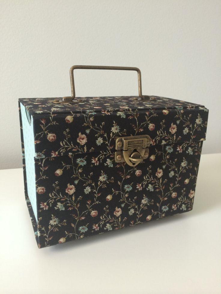 Feminine suitcase, makeup suitcase, nail polish suitcase, organize suitcase, suitcase with tray by ArtTherapyStudio on Etsy