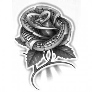 "OG Abel Realistic Temporary Tattoo , ""Money Rose"" Hundred Dollar Bill"