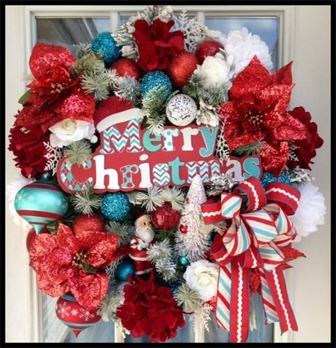 Best 25 artificial christmas wreaths ideas only on for Elegant christmas decorations for sale
