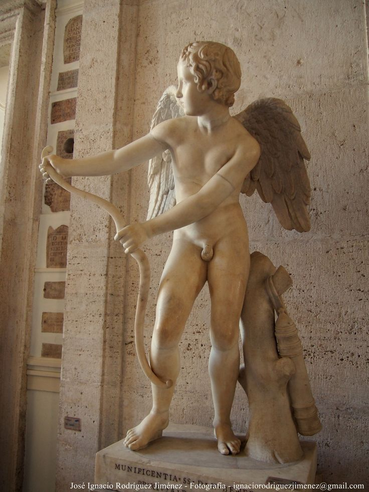 Eros stringing his bow, Roman copy after Greek original by Lysippos, 2nd century AD, Capitoline Museums, Rome, Italy.