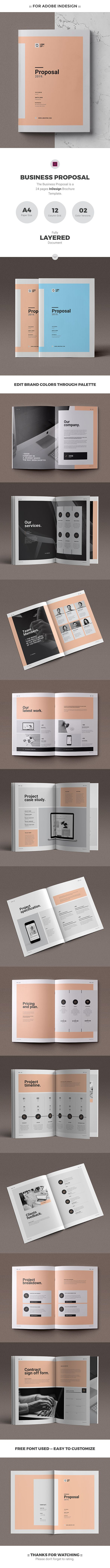 The Minimal #Proposal Brochure Template is a 24 pages Indesign brochure template. This template is for use as a Proposal / Estimate / Client Services / Agency or Studio Brochure.  #proposal #brochure #minimal #minimalist #clean #modern #brochuredesign #brochuretemplate