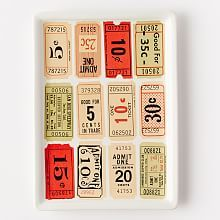 Movie Ticket Tray | West Elm. Oscars. Emmys. Golden Globes. Awards show party. Movie night.