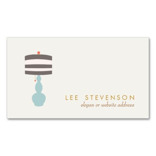 Interior Designer Lighting Home Decorating Business Cards