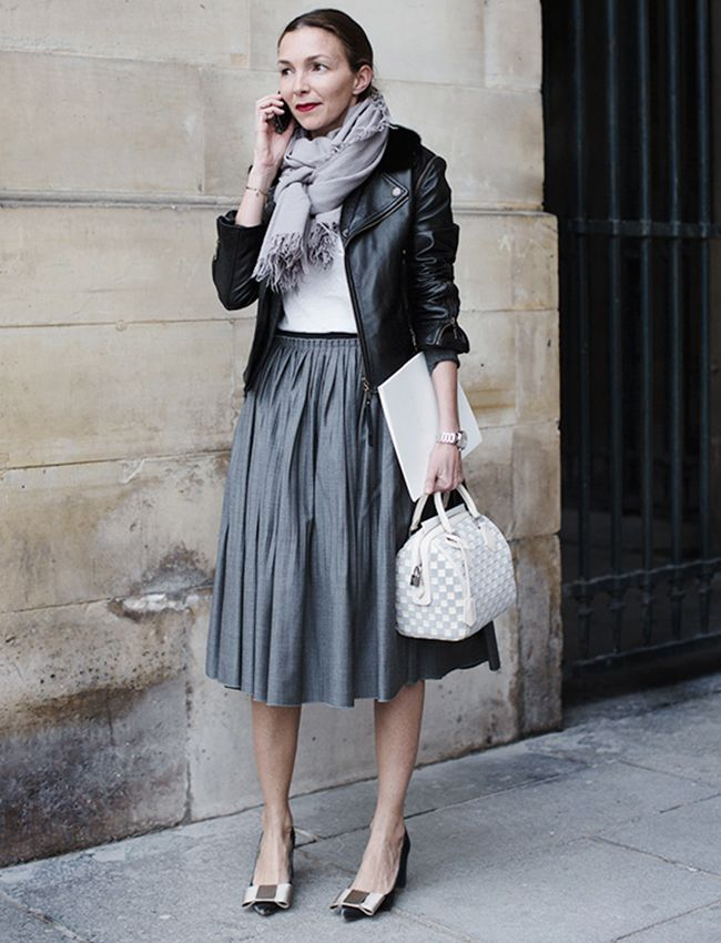 The pleated skirt.