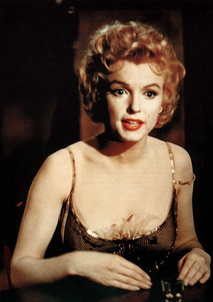 """Marilyn Monroe In A Promotional Photo For The Movie """"BUS STOP."""""""