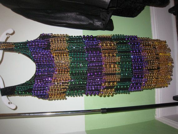 Now I know what I should do with my beads from this year...make a costume for next Mardi Gras!