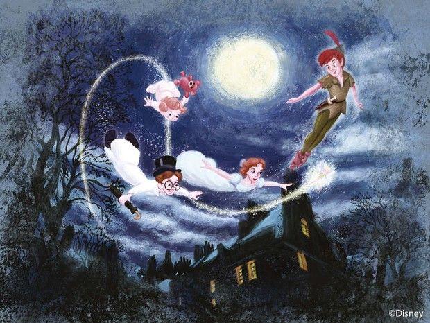 Disney Classics - Peter Pan -             Fototapeter & Tapeter -           Photowall