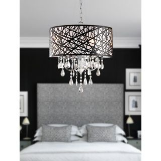 Chrome Finish 4-light Round Chandelier | Overstock.com Shopping - The Best Deals on Chandeliers & Pendants